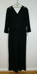 WOMEN'S BLACK EVENING PANTS JUMPSUIT - CALVIN KLEIN - SIZE 14 - NEW WITH TAGS
