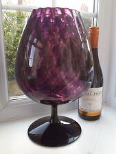 Large Vintage Murano/Empoli amethyst   brandy shaped art glass vase.