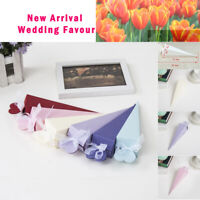 100X NEW Confetti Cone Favours Sweets Boxes Bags Wedding Party Table Decorations