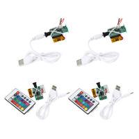 4 Pièces 2/16 Couleurs Impression 3D Moon Light Board LED 1W USB Rechargeable