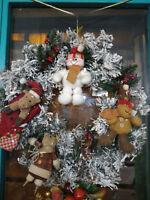 Ghirlanda natalizia grande feste di Natale Marry Christmas decorazione con renne