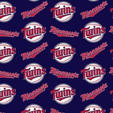 Minnesota Twins MLB Cotton Fabric 60' Inch Sold by the Yard