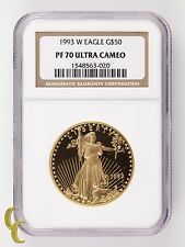1993-W Gold American Eagle Proof Graded by NGC as PF-70 Ultra Cameo