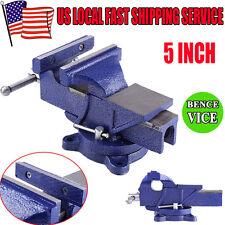 "5"" Mechanic Bench Vise Table Top Clamp Press Locking Swivel Base Heavy Duty New"