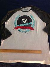 XZAVIER Men 2XL GRAY 2-TONE T-Shirt GRAPHIC FRONT 3/4 DARK SLEEVES Biker MSRP$48