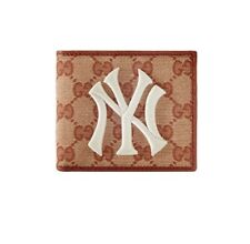 Brand New Original GG Gucci Canvas Wallet With New York Yankees Patch