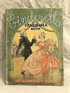 Cinderella Panorama Book, Six Scenes, Toy Theatre, Pop-Up - 1st 1950 Collins