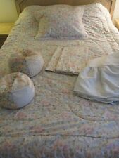 Vintage Laura Ashley Quartet Sycamore Twin Quilt With Sham And 2 Valances