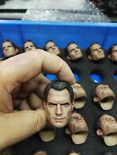"1/6 Superman 2.0 Henry Cavill Man Head sculpt HEAD carving For 12"" HotToys Body"