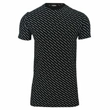 DSQUARED2 T SHIRT MENS BLACK WHITE ALL OVER PRINT CREW NECK UNDERWEAR TEE