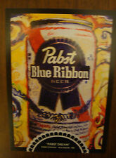 2007 PABST Can on Canvas Art Gallery PBR Blue Ribbon Beer 5 Postcard set