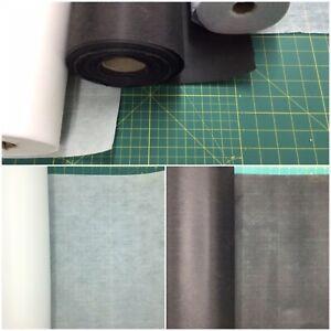 Iron on Fusible Interfacing White & Black Light, Medium ,Heavy Weight 75cm Wide