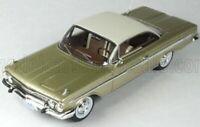 wonderful resin-modelcar CHEVROLET IMPALA COUPE 1961 - fawnmetallic/white - 1/43