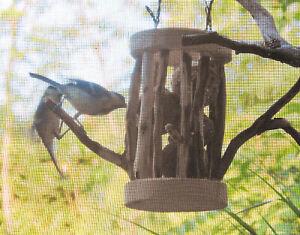 Meisenknödelhalter für Knödel ohne Netz Vogelfutter Vögel Gartendeko Handarbeit