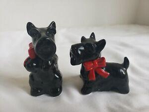 Black Scottie Scottish Terrier Dogs - Salt and Pepper Shakers # J