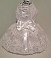 Dog Dress White Lace Wedding For Small Breed Dogs  from Precious Pup Exclusive R