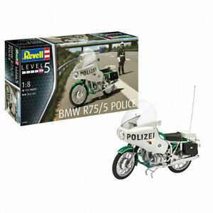 Revell Ag (Germany) 1/8 Scale BMW R75 / 5 Police Motorcycle Model, Skill Level 5