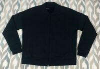Under Armour Women's Full Zip Cotton Fleece Bomber Sweater Jacket Size M Medium