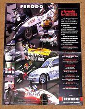 Original 1994 FERODO POSTER - F3 Formula Ford Saloons Fisichella Kane Magnussen