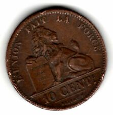 BELGIQUE LEOPOLD PREMIER  10 CENTIMES 1833 LION BELGIUM