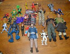 ACTION FIGURES Lot of 20: Ninja Turtles, Spiderman, Cat Women, Transformers