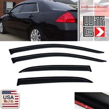 Window Visor Vent Shade Guard Honda Accord 4 Door Sedan 2003 2004 2005 2006 2007