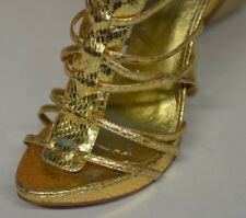 Bakers Natalie Sz 6.5 M Strappy Stiletto Gladiator Style Gold Sandals Snake Like