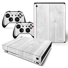 Xbox One X Skin Design Foils Sticker Screen Protector Set - White Wood Motif