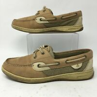 Sperry Top-Sider Womens 9M Bluefish 2-Eye Boat Shoes Brown Leather Casual Flats