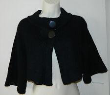 Women Bebe Black Solid Short Sleeve Casual Work Shrug Size S