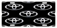 TOYOTA LOGO BLACK CUSTOM LICENSE PLATE CAR EMBLEM