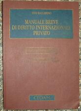Ballarino, MANUALE BREVE DI DIRITTO INTERNAZIONALE PRIVATO, Cedam 2008 terza ed