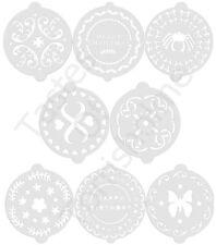Kitchen Craft Conjunto de 8 Decoración Tartas Plantillas - Cumpleaños,Estampado,