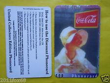 1997 rare phone cards 50 P schede telefoniche the coca cola coke telefonkarten