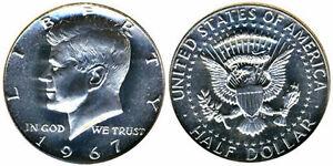 1967 Kennedy Half Dollar Gem Bu from SMS set No Reserve