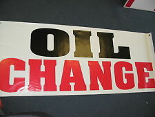 OIL CHANGE Banner Sign NEW Larger Size for Car Wash Shop Lube filter