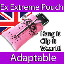 EX EXTREME NEOPRENE PINK CAMERA PHONE IPOD MP3 STRETCHY POUCH CASE SLEEVE SKIN