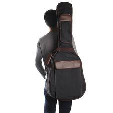 Folk Acoustic Guitar Gig Bag Case PU Padded Waterproof for 39 40 inch Black