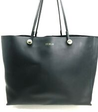 New w/out tag ~$400 FURLA Tote Bag. Black Leather. Attached interior pouch.