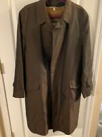 Vintage Robert Hall Winter Aqua Haven Trench Coat Removeable Lining Men's L 44