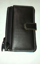 Ladies leather wallet medium multiple colours Black
