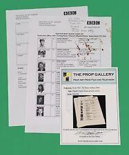 Doctor Who 10th Dr. Who COA Cast List David Tennant BBC Rare Script Prop