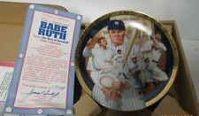 "1992 HAMILTON COLLECTION NEW YORK YANKEES 6"" COLLECTORS PLATE BABE RUTH"