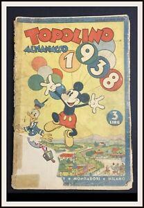 ⭐️ TOPOLINO PAPERINO ALMANACCO 1938 - Mondadori - DISNEYANA.IT ⭐️