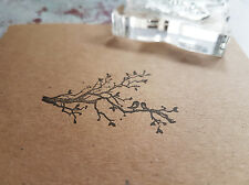 Tree love birds stamp ideal for gift tags and wedding favours