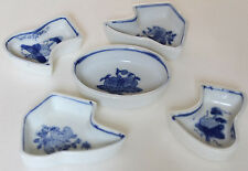 Blue and White Trinket Dish Assorted Lot Small Size