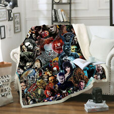 2021 New Cool Horror Movie 3D Print Sherpa Blanket Sofa Couch Quilt Cover Throw