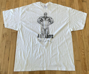 """VTG Weightlifting White T-Shirt Size XXL Jay Cutler Body Building """"A Cut Above"""""""
