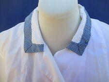 Blouse de travail N°29 en polyamide nylon bleu marine blanc vintage