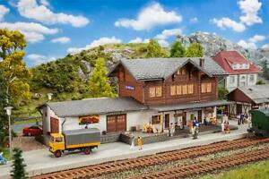 "FALLER H0 191730 Railway Station "" Pc. Niklaus "" With Storage Enclosure New"